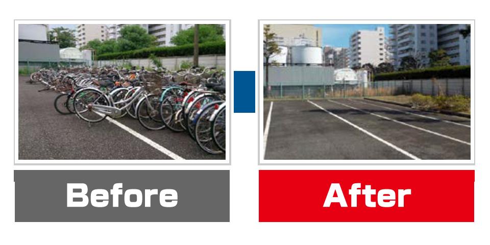 自転車解決Before?After